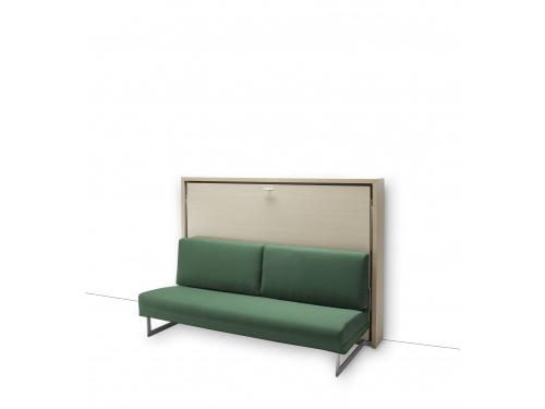 Letto a scomparsa orizzontale SmartBeds Houdini con divano sfoderabile e rete a doghe