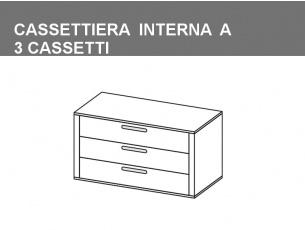 cassettiera interna a 3 cassetti