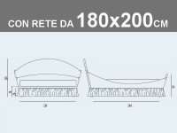 Misure del letto matrimoniale XL imbottito Noctis Lullaby Chic con rete a doghe da 180x200cm