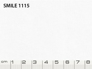 Tessuto Smile colore 1115 Optic White, 100% poliestere. Colore Pantone 11-0601