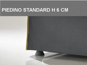 Piedino di serie in polipropilene nero H 6cm