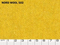 Tessuto Nord Wool colore 502 Golden Apricot, 70% lana, 30% poliestere. Colore Pantone 14-1041