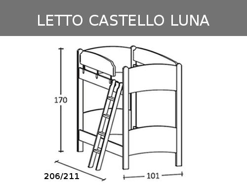 Misure del castello Luna in massello