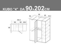 Kubo 4 da 90x202.4cm