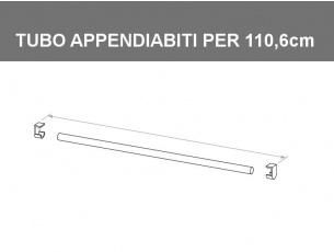 Tubo appendiabiti per vano da 110,6cm