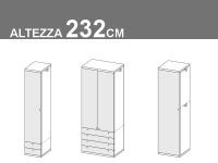 altezza 232cm