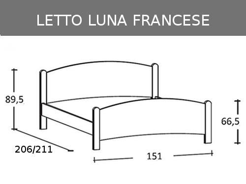 Misure del letto matrimoniale alla francese Luna