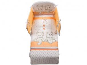 Kit tessile per lettino Amici arancione