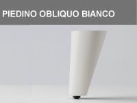 Piedino obliquo Bianco h 11 cm