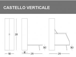 Misure del Letto castello Ledo verticale