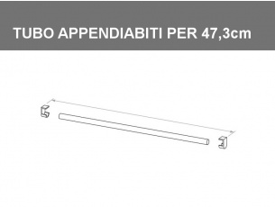 Tubo appendiabiti per vano da 47,3cm