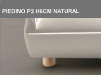 Piedino P2 H6cm Natural