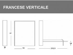 Misure del Letto flat piazza e mezza verticale