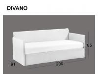Divanetto imbottito Space in versione divano