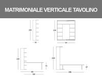 Misure del Letto Matrimoniale girevole verticale con tavolo basculante