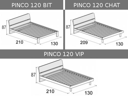 Dimensioni del letto da una piazza e mezza Doimo Cityline Pinco