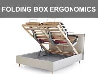 Contenitore matrimoniale con sistema Folding Box e doppia rete con movimentazione elettrica ergonomica