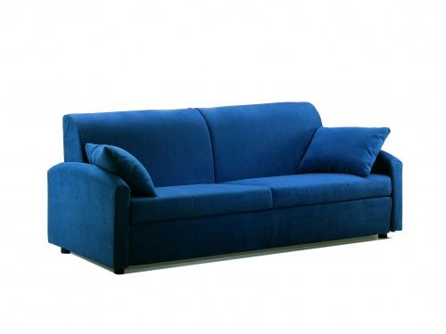 Divano trasformabile in letto singolo, modello Oplà interamente sfoderabile