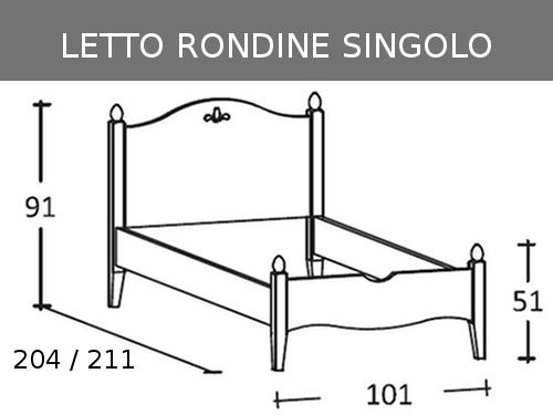 Schema letto Rondine singolo