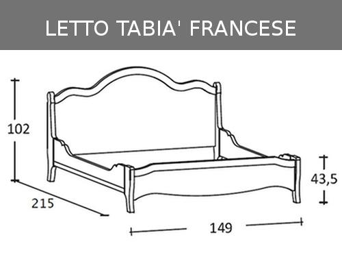 Misure del letto alla francese Scandola Tabià