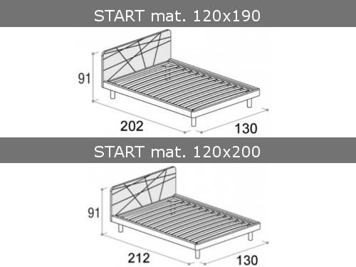 Misure del letto da una piazza e mezza Start