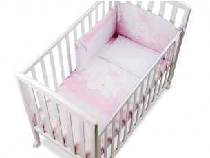 Completo tessile Baby Re Rosa