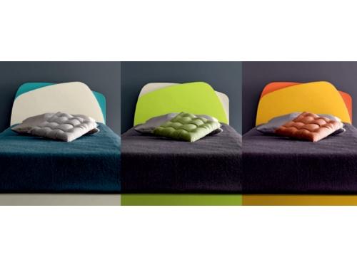 Esempi di varianti disponibili per le colorazioni del letto singolo Krono bicolore