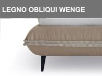 Piedino in legno obliquo colore wengè h.15cm