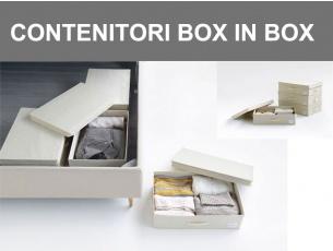 Contenitori pensati per ordinare il vano sottoletto Box in Box