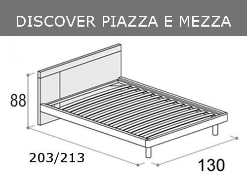 Misure del letto piazza e mezza Doimo Cityline Discover