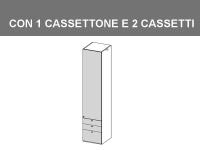 colonna 1 cassettone 2 cassetti