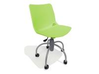 Sedia regolabile in altezza su ruote modello Baby Verde