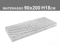 materasso 90x200 h.18cm in poliuretano espanso con rivestimento trapuntato
