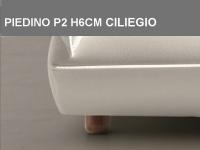 Piedino P2 H6cm Ciliegio
