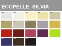 Campionario colori Ecopelle Silvia 100% Poliuretanica, con retro 65% poliestere, 35% cotone
