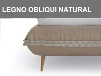 Piedino obliquo in legno naturale h.15cm