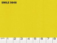 Tessuto Smile colore 9848 Yellow, 100% poliestere. Colore Pantone 14-0848
