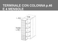 terminale con colonna e 4 mensole