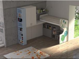 Casteloponte angolare destro con fianco libreria