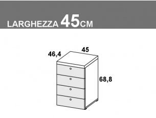 larghezza 45cm