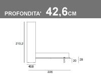 Misure del Vertigo matrimoniale profondità 42,6cm