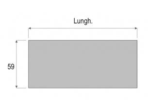 Scrivania lineare da 142cm di lunghezza