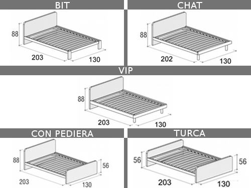 Dimensioni del letto Giotto da una piazza e mezza