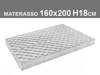 materasso 160x200 h.18cm in poliuretano espanso con rivestimento trapuntato