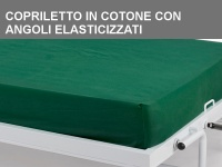 Copriletto singolo in cotone con angoli elasticizzati