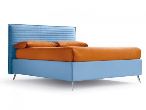 Letto matrimoniale con sistema brevettato Folding Box contenitore Noctis Bob Stripes in tessuto 100% cotone Brando 23