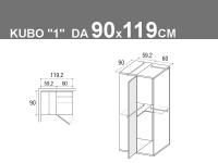 Kubo 1 da 90x119.2cm