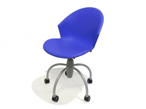 Sedia per camerette in plastica su ruote modello Gim Blu