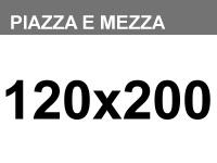 Materasso piazza e mezza a molle ortopedico Aurora da 120x200cm h22cm