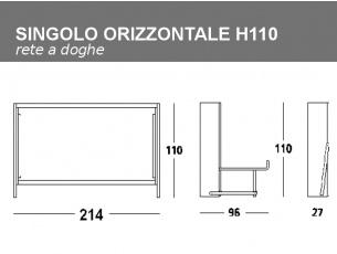 Misure del Letto Leo singolo H110